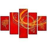 La selección de rugby de mejor arte pintados a mano en la parte trasera de alta calidad con marco de aceite camiseta de manga corta para textura decorativo diseño de árbol en diseño Golden horizontal de pintura al óleo sobre lienzo