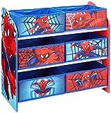 Spiderman 866352 Meuble de Rangement pour Chambre d'Enfant avec 6 Bacs, Polypropylène, Bleu/Rouge,...