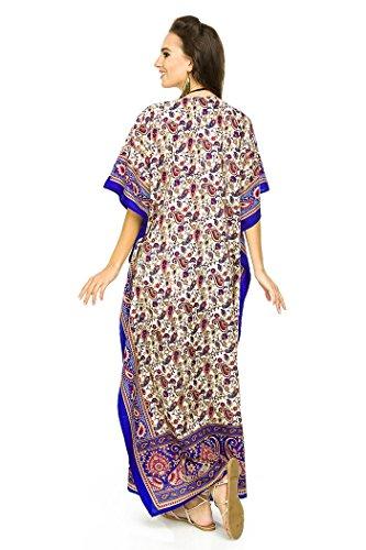 NEU Damen überdimensional Maxi Kimono Kaftan Tunika Kaftan Damen Top freie Größe blue-17012