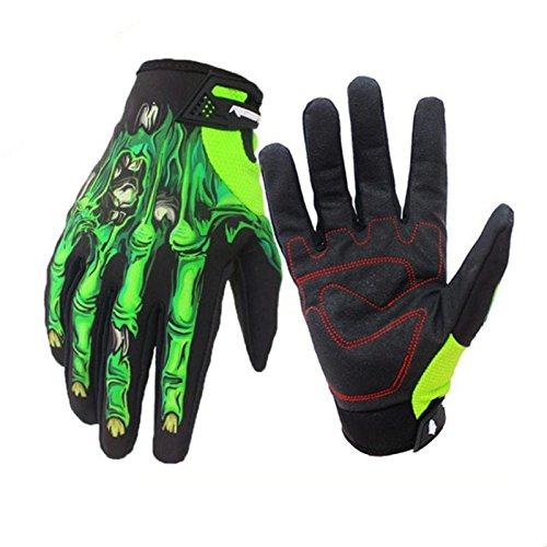 Rera Unisex Winter Warm Voll Finger Touchscreen Motorrad Handschuhe mit 3D Klauen Drucken Outdoor Radsport Fahrrad Handschuhe für Damen und Herren