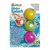alldoro 60206 Water Splash, 3 herbruikbare waterbommen, eindeloos bijvulbaar, plakken altijd weer, 3 ballen op kleur gesorteerd