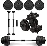 Body Revolution Vinyl Dumbbell Set – Adjustable Free Weights 10kg 15kg 20kg 30kg 40kg 50kg Sets (10kg)