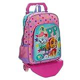 La Patrulla Canina Best Pup Ever - Mochila escolar, 15.43 l, color azul/ rosa