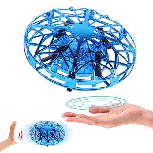 Flybiz Mini UFO Drone, Ricaricabile per Bambini UFO Drone Mini quadricottero Motion Hand Controllato Drone, Palla Giocattoli Mano Controllato Elicottero Sfera di Elicottero a Induzione Interattiva