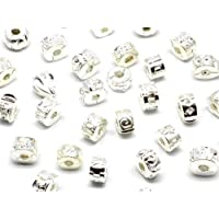 8c4d8dd99 Nambeads © 10 x silver plated Clip stop stopper beads charms for Pandora  style charm bracelets