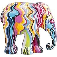 Édition limitée Motif parade d'éléphants Réplique éléphant–Couleur Factory, Polyrésine, 20 cm