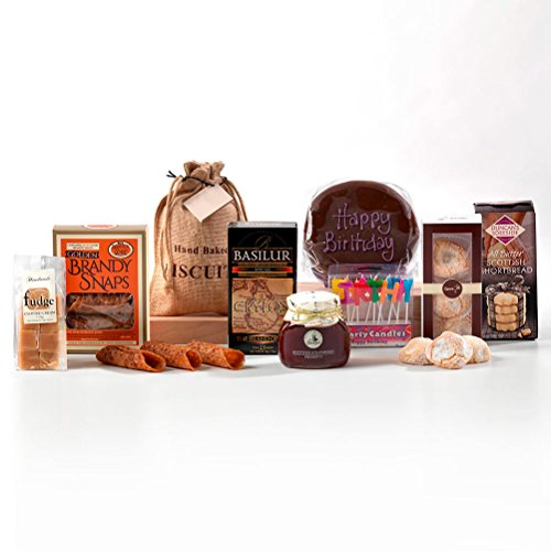 Hay Hampers Luxury Afternoon Tea With Chocolate Birthday Cake Hamper - FREE UK Delivery