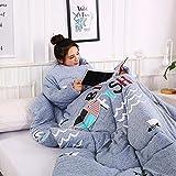 Dream-cool Baumwolldecke mit Ärmeln Home Steppdecke für Erwachsene Büro Freizeit Steppdecke Erwachsene Herren Kinder Warm Decken Multifunktions-Decken Verdickte Steppdecke 150 * 200 cm WhaleGrey