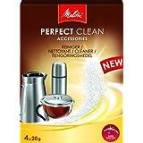 Melitta Perfect Clean - Limpiador en polvo para cafeteras (4 x 20 g)