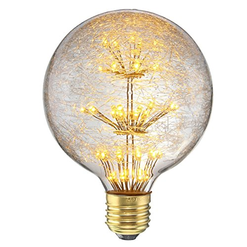 KINGSO LED E27 3W Edison Lampe Vintage Retro Stil Glühbirne 2300K Deko Glühlampe mit Zertifikat Warmweiß