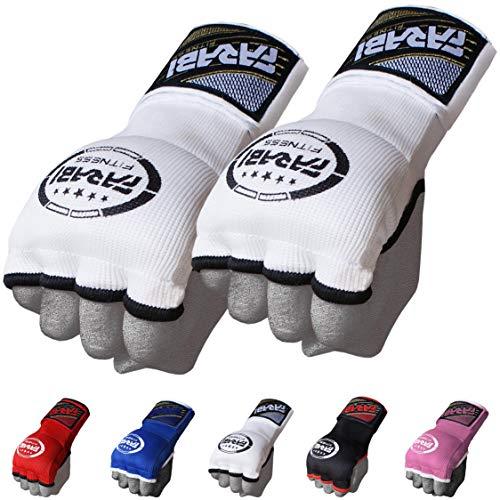 mezzi guanti boxe Farabi Interno Glovs (Bianco