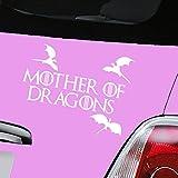 Mutter der Drachen Game of Thrones weiß Auto Aufkleber Aufkleber Vinyl Fenster Aufkleber–(One P & P Laden Egal wie viele Artikel, die Sie kaufen aerialballs.)