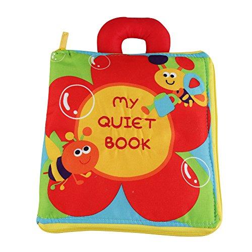 o livre, tissu Chiffon de livres pour bébés, des livres pour bébés, portable, fermeture éclair ()
