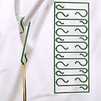 Adorno de Navidad ganchos, Woopower 10hojas/100piezas de 4,5cm colgante árbol de Navidad decoración Hanger con ganchos DIY árbol de Navidad colgante de Navidad suministros
