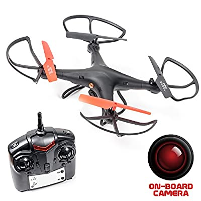 Recon Observation Drone with Camera - with SD Card (Black) by Recon