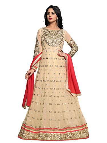 woomen Georgette Embroidered Semi-stitched Salwar Suit Dupatta Material