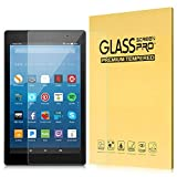 MoKo Folie Kompatibel mit All-New Fire HD 8 und Fire HD 8 Kids Edition 2018 & 2017, Klar HD 9H Schutzfolie Glasfolie Screen Protector - Transparent