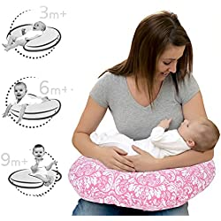 Lulal Mom Comfortable Nursing Pillow For Mom & Baby New Portable Allergen Protected Especially For Breastfeeding, Propping - Pink