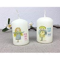 Gastgeschenk zur Taufe - personalisierte kleine Kerze als Tischkärtchen