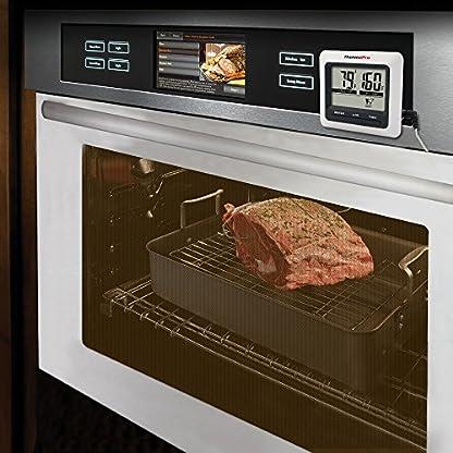 ThermoPro TP04 Termómetro Digital de Cocina para Alimentos Carne Barbacoa Horno Parrilla Comida con Modo Temporizador y Grande Pantalla LCD