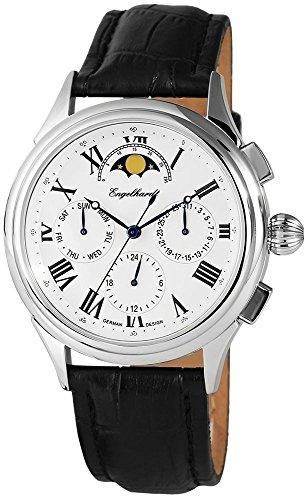 Engelhardt Men's Watch with Genuine Leather Strap Watch Clock 386722629003