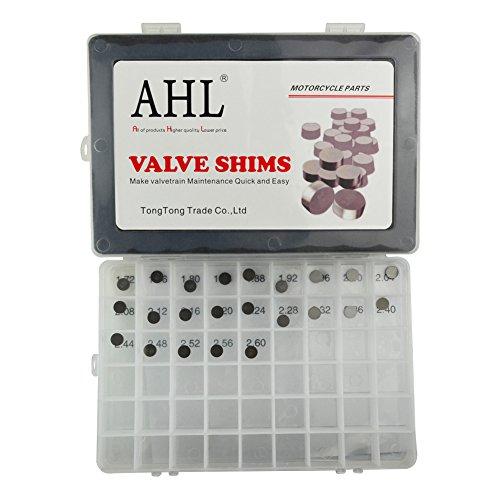 AHL 23pcs 8.85mm O.D.1.72mm-2.60mm Thick Adjustable Valve Shim Kit for K TM 450 SX-F 2007-2014 Test