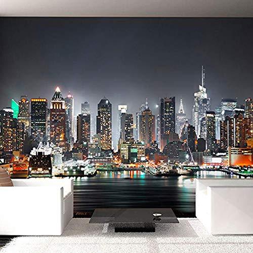 Fototapete Non Woven Premium Kunstdruck Fleece Fototapete Dekoration Poster Bild Design Moderne Nyc City New York-345cm(W) x230cm(H)