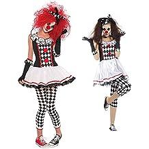 Disfraz de Arlequín LaLaAreal Disfraz Payaso Adulto con Pantalon para Halloween y Carnaval (XX- Large )