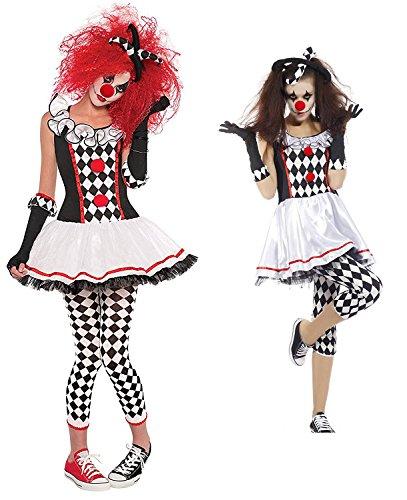 Imagen de disfraz de arlequín lalaareal disfraz payaso adulto con pantalon para halloween y carnaval x large