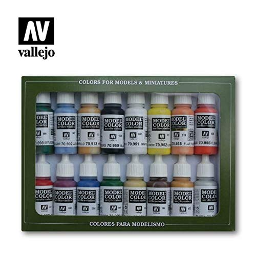 Model Colore Set - Basic Colors Usa (X16) (Val70140)