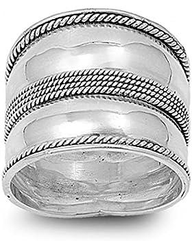 Ring aus Sterlingsilber - Bali Design