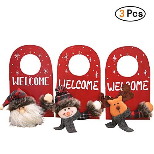 Chenqi 3PCS Weihnachtsdekoration Türgriff Hanging Party Shop Bar Zimmer