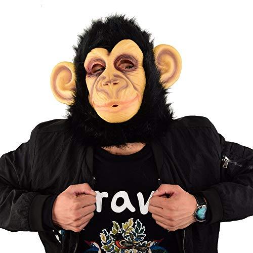MONWSE Schimpanse Maske Mascaras Halloween Masken Neuheit Kostüm Party Maskerade Maske AFFE Tier Masque (Schimpanse Maske Kostüm)