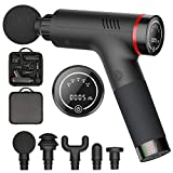 WELTEAYO Massagepistole, Massage Gun Elektrisch Entspannen Muskel Massagegerät für Nacken Schulter Rücken Handheld Percussion Massager Muscle Vibrating Relaxing Machine mit 5 Gang 5 Massageköpfen