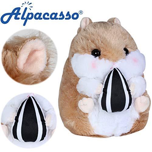 Alpacasso 10' Hámster de felpa marrón, juguete suave lindo...