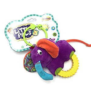 winfun Sonajero el Elefante Timber, Little Pals Color Azul CPA Toy Group 7300111