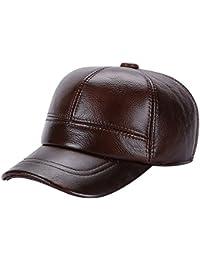 La vogue-Cappello in Pelle Uomo Baseball Paraorecchie Berretto con Visiera  cap Regolabile 76e5266ed78d