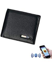 468eb4d22645b Smart Wallet GPS Bluetooth Finder Herren Double Fold Wallet High-End-Mode  wiederaufladbare Anti-verloren Diebstahlschutz Brieftasche…