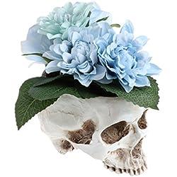 Kofun Maceta de Flores, diseño de Cabeza de Calavera Humana, Maceta de Flores, contenedor para Manualidades, decoración del hogar