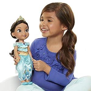 Jakks Pacific- Sirenita, Ariel Muñeca Princesa Disney, aladdín, Jazmine,, 35 cm (78861-EU-6)