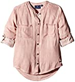 TOM TAILOR Kids Mädchen Bluse overdyed blouse/510, Gr. 152, Rosa (original 1000)
