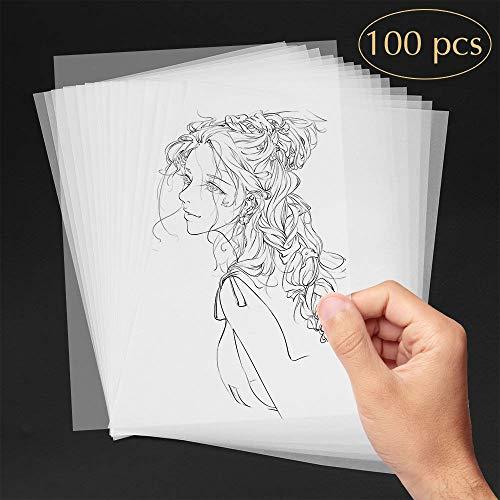 N A4, Aodoor 100 Blatt Transparentpapier bedruckbar, Pauspapier zum basteln - Papier Transparent ()