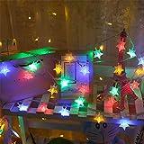 HEIFEN Universal Lichter Sterne Batterie Blinkende Lichter Rot Seil Batterie 6 Meter 40 Zimmer Vorhänge Dekoration Garten