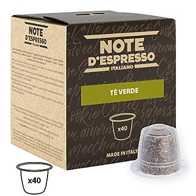 Note d'Espresso - Lot de 40 capsules de thé vert compatibles avec machine Nespresso, 40x3g