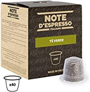 Note d'Espresso Green Tea Capsules exclusively Nespresso* Compatible 3g x 40 Capsules
