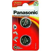 N4U ONLINE originale CR2032 batteria (2 pezzi) - Panasonic, litio