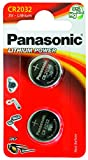 Panasonic CR2032 Battery (2 pack) - Lithium Coin Cell, 3V