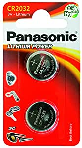 CR2032 Battery (2 pack) - Panasonic, Lithium Coin Cell, 3V