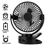 Mini Ventilatore da Tavolo Silenzioso 720° Rotazione Temporizzazione Ventilatore USB, Ventilatore Ventola da Tavolo e Ventola a Clip 3 in 1 Adatto per Passeggino Auto Campeggio Ufficio Viaggiare ecc