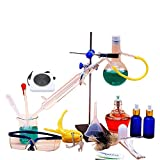 Agitatore Magnetico Da Laboratorio Piccolo Distillatore Di Vetro Set Fornello Elettrico Strumento Di Laboratorio Chimico Per La Purificazione Di Rugiada Pura (Colore : B)